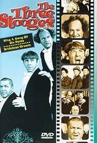 Moe Howard, Larry Fine, and Curly Howard in Brideless Groom (1947)