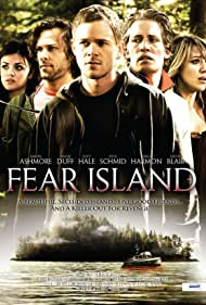 Aaron Ashmore, Haylie Duff, Kyle Schmid, Lucy Hale, and Jacob Blair in Fear Island (2009)