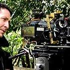Simon Cathcart on set