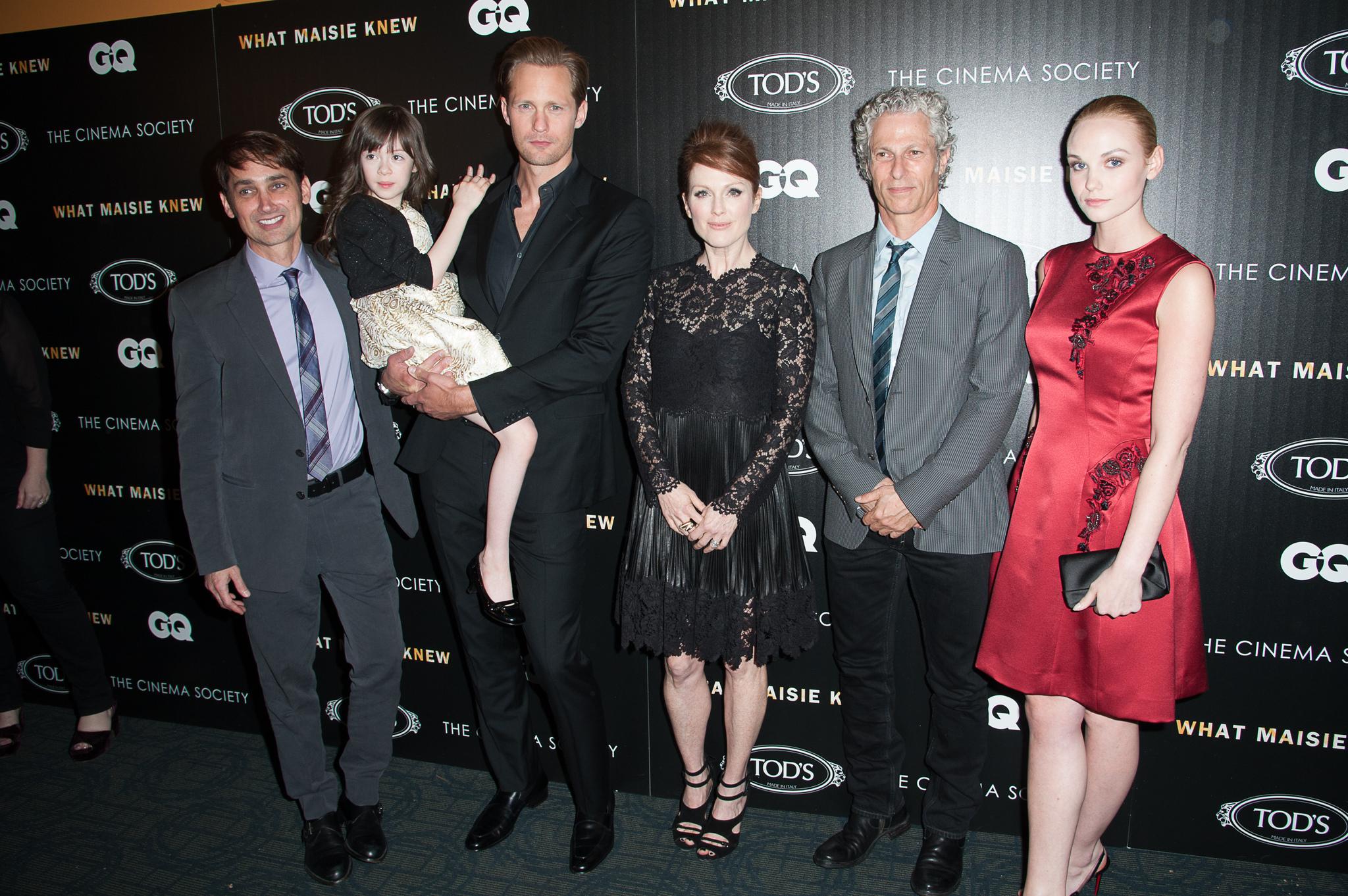 Julianne Moore, Alexander Skarsgård, Scott McGehee, David Siegel, Joanna Vanderham, and Onata Aprile at an event for What Maisie Knew (2012)