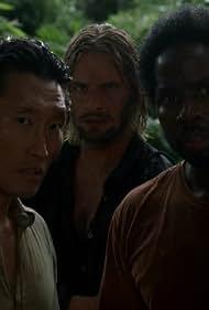 Daniel Dae Kim, Josh Holloway, and Harold Perrineau in Lost (2004)