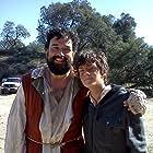 William Leon and Horatio Sanz on the set of Don Quixote