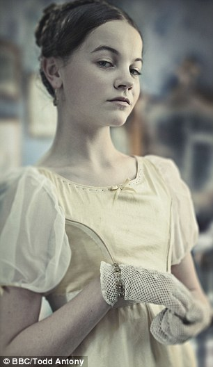 Izzy as 'Young Estella' in the BBC's 'Great Expectations'