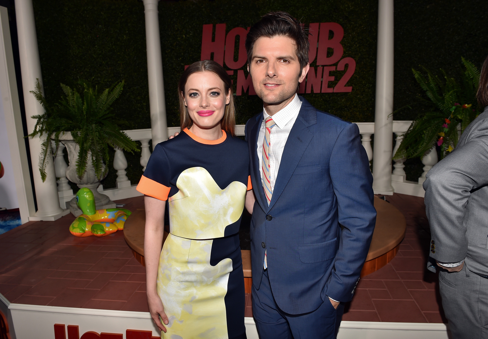 Adam Scott and Gillian Jacobs at an event for Hot Tub Time Machine 2 (2015)