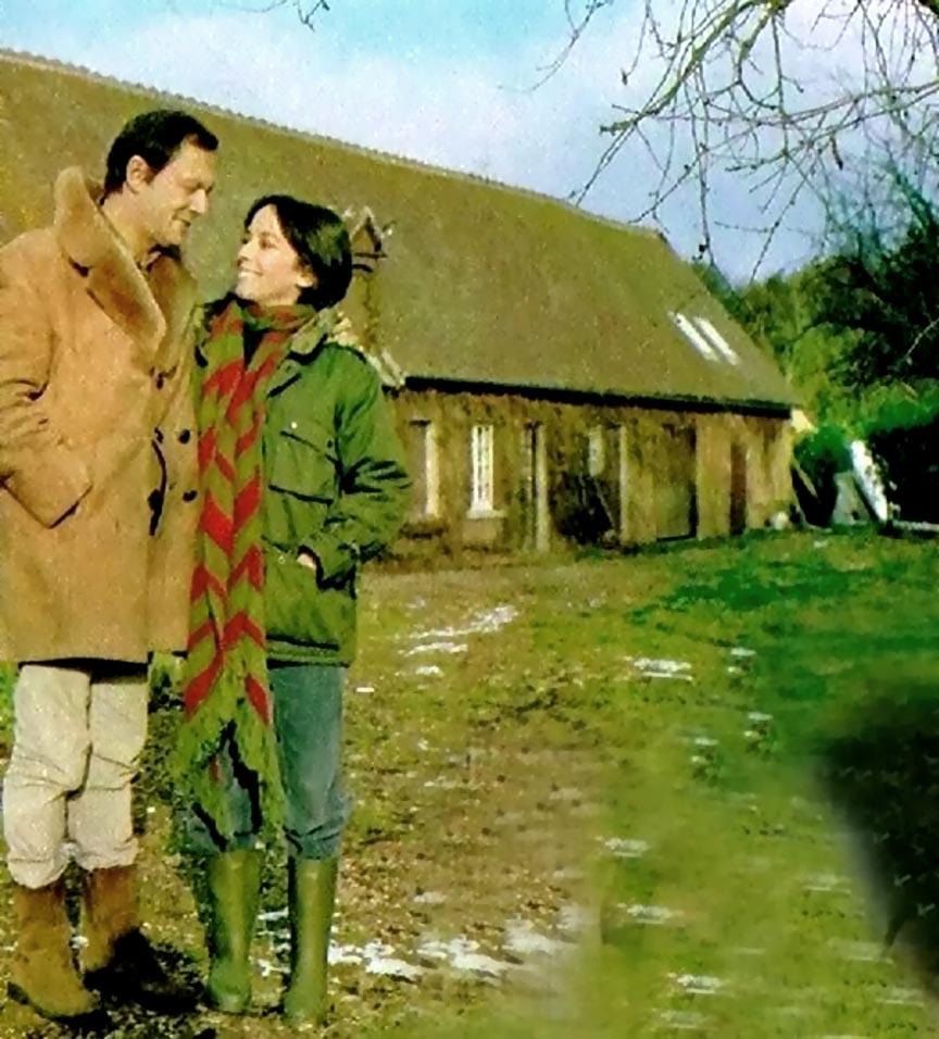 Josephine Chaplin and Maurice Ronet
