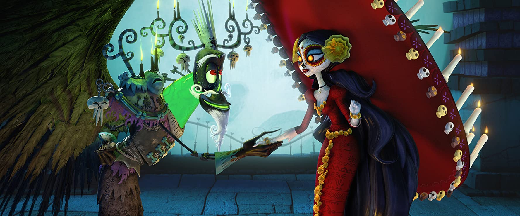 Ron Perlman and Kate del Castillo in The Book of Life (2014)