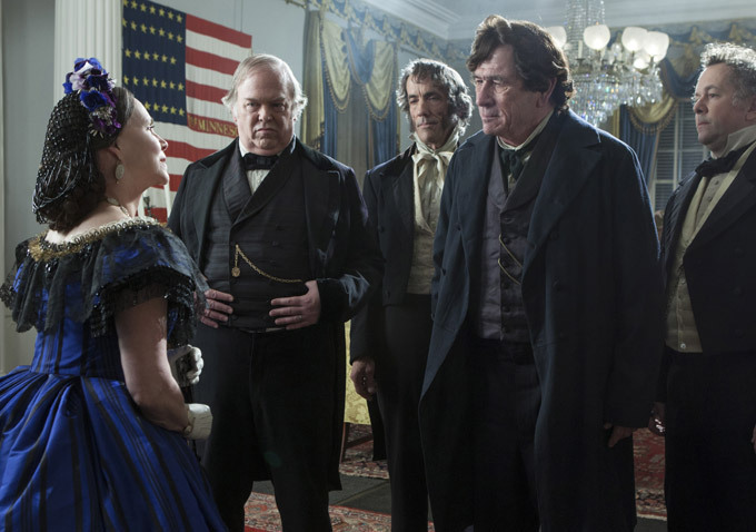 Tommy Lee Jones, Sally Field, David Costabile, Wayne Duvall, and John Hutton in Lincoln (2012)