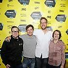 Mark Duplass, Jarod Neece, Christopher Donlon, and Patrick Brice at an event for Creep (2014)