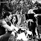 Jon Michael Davis, Farah White, Robin Conly, and Kevin Nations on location in San Antonio, Texas on the set of Angel Dog (2011)