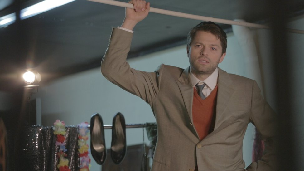 Misha Collins directs the action during a scene form Kittens in a Cage. Directed by Jillian Armenante.