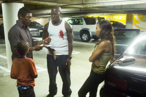 Vondie Curtis-Hall, Meagan Good, and Tyrese Gibson in Waist Deep (2006)