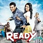 Salman Khan, Paresh Rawal, Arya Babbar, Asin Thottumkal, Nikitin Dheer, and Rajiv Kachroo in Ready (2011)
