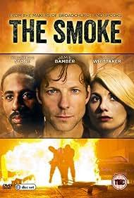 Jamie Bamber, Rhashan Stone, and Jodie Whittaker in The Smoke (2014)
