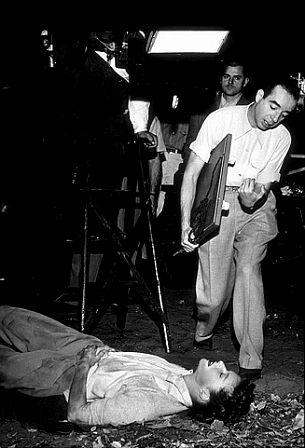 "1509-3 Director Vincente Minnelli and Katharine Hepburn ""Undercurrent"" 1946 MGM"