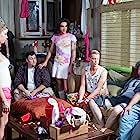 Still of Jo Newman, Carlee Baker, Jason Hadley, Jordan Pease, Daniel Skelton, Jamie Kennedy, and Albert Minero in Bro, What Happened? (2014)