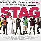 Andrew Bennett, Michael Legge, Peter McDonald, Hugh O'Conor, Andrew Scott, Amy Huberman, and Brian Gleeson in The Stag (2013)