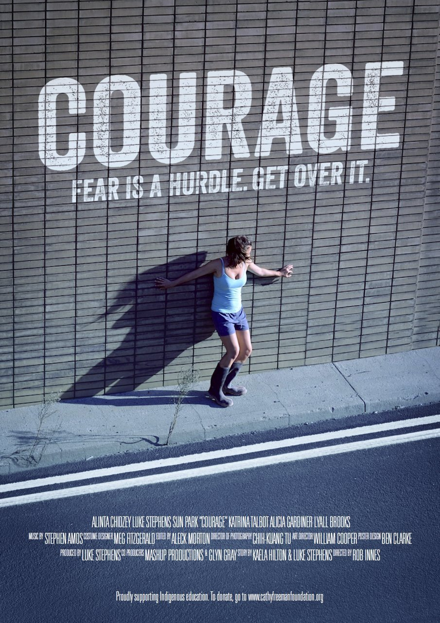 Luke Stephens and Alinta Chidzey in Courage (2013)