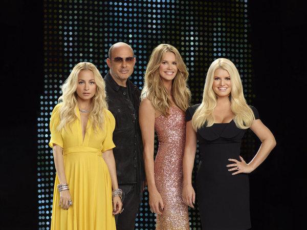 Elle Macpherson, Jessica Simpson, Nicole Richie, and John Varvatos in Fashion Star (2012)