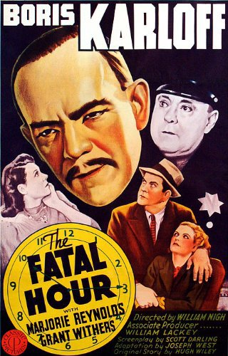 Boris Karloff, Lita Chevret, James C. Morton, Marjorie Reynolds, and Grant Withers in The Fatal Hour (1940)