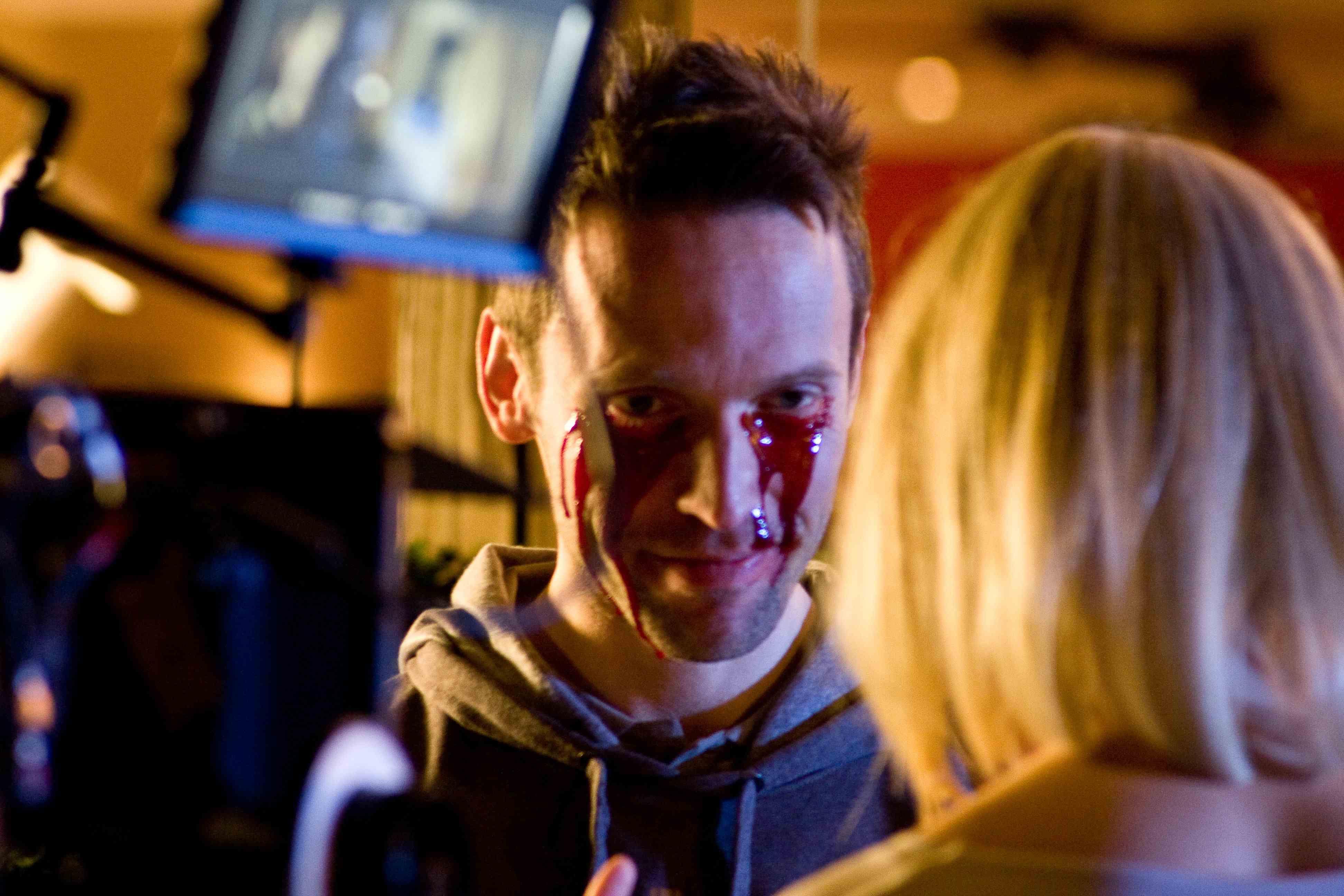 Leigh Jones on the set of 'Love Bug'.