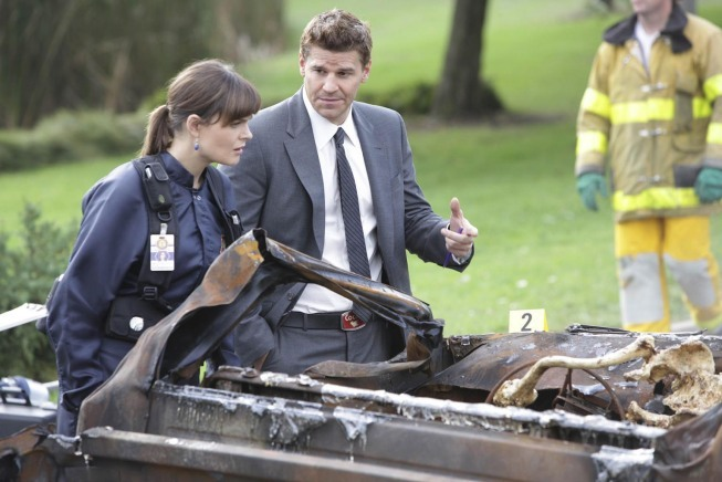 David Boreanaz and Emily Deschanel in Bones (2005)