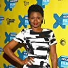 Emayatzy Corinealdi at an event for The Invitation (2015)