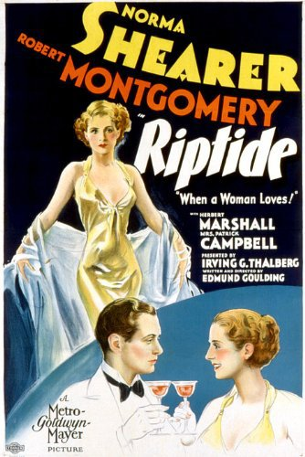 Robert Montgomery and Norma Shearer in Riptide (1934)