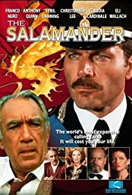 Anthony Quinn, Sybil Danning, Christopher Lee, Claudia Cardinale, Franco Nero, and Eli Wallach in The Salamander (1981)