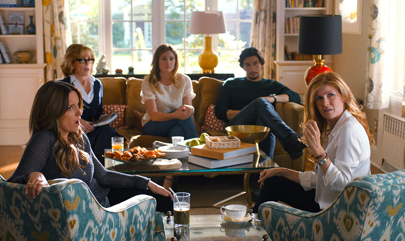 Jane Fonda, Connie Britton, Tina Fey, Kathryn Hahn, and Adam Driver in This Is Where I Leave You (2014)