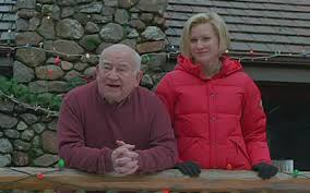 "Ed Asner, Alice Evans.   ""THE CHRISTMAS CARD"""