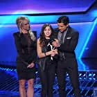 Britney Spears, Mario Lopez, and Carly Rose Sonenclar in The X Factor (2011)