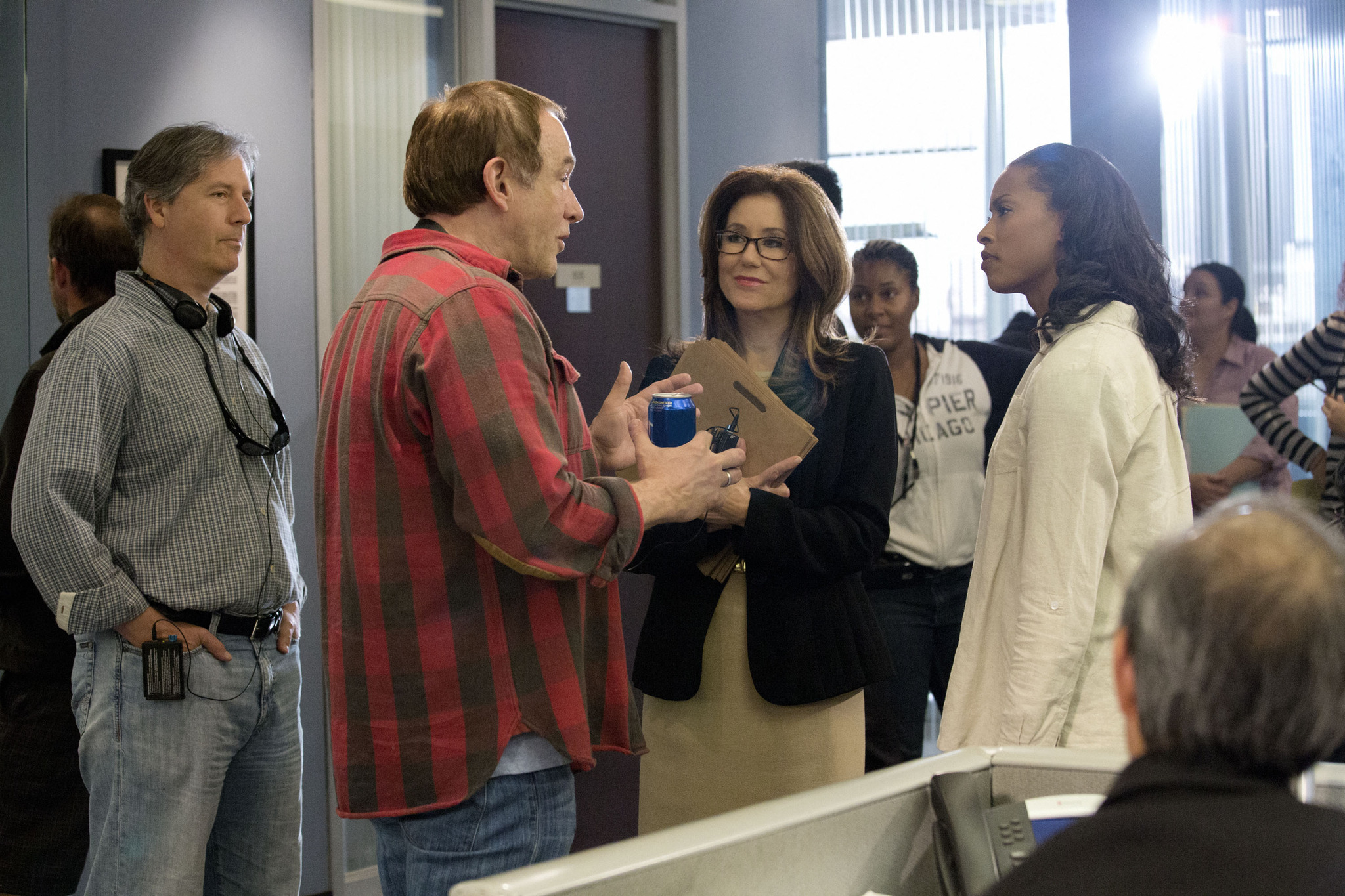 Mary McDonnell, Michael M. Robin, and Kearran Giovanni in Major Crimes (2012)