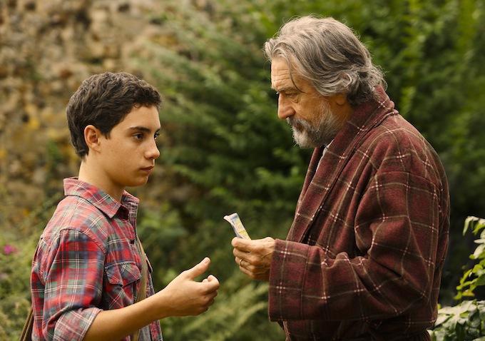 Robert De Niro and John D'Leo in The Family (2013)