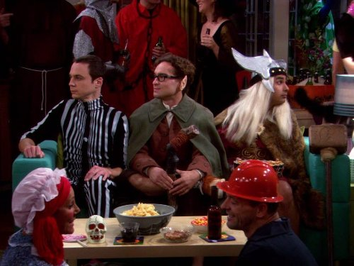 Johnny Galecki, Jim Parsons, and Kunal Nayyar in The Big Bang Theory (2007)