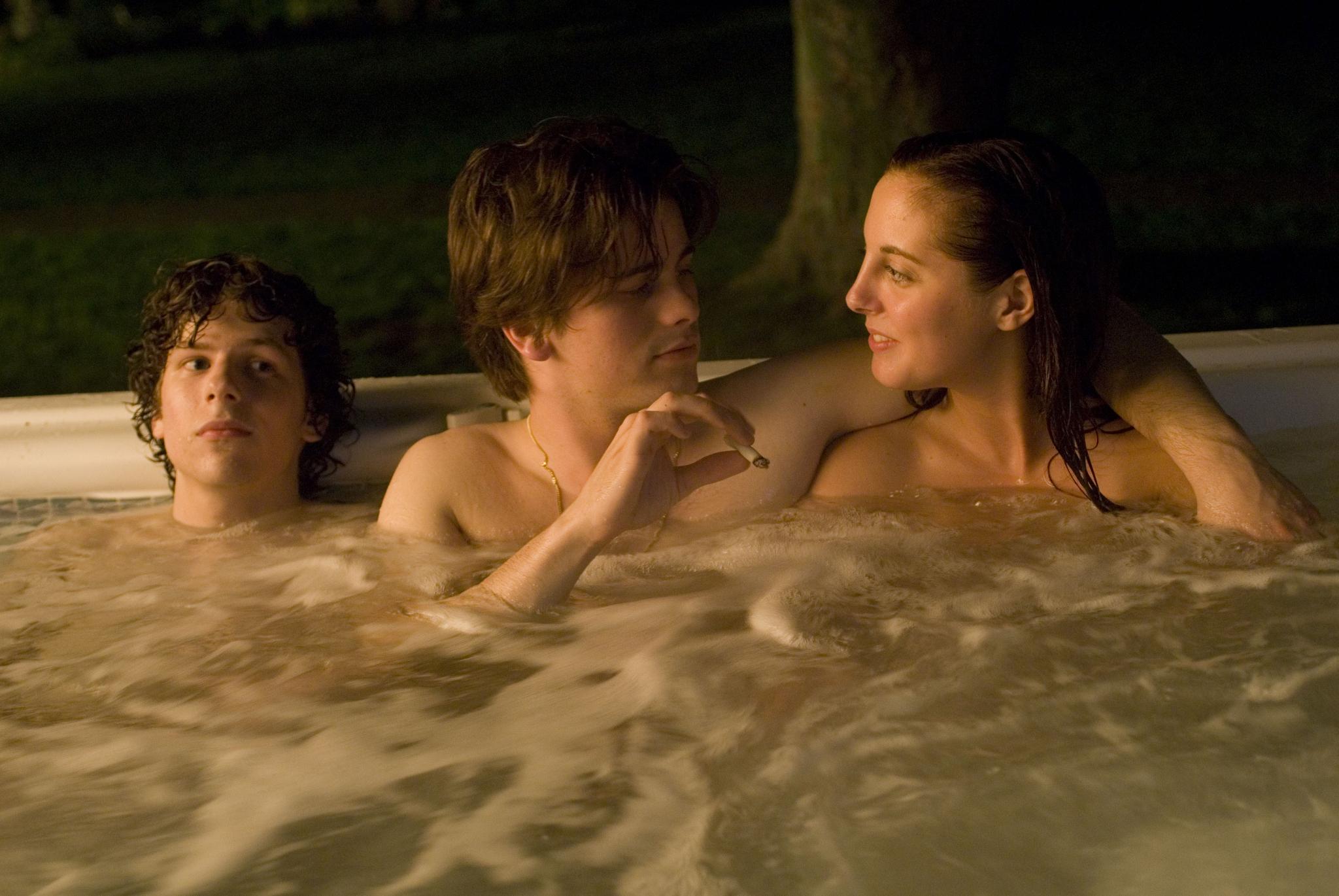 Eva Amurri, Jesse Eisenberg, and Jason Ritter in The Education of Charlie Banks (2007)