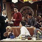 Isabella Rossellini, Lisa Kudrow, Matt LeBlanc, Matthew Perry, and David Schwimmer in Friends (1994)
