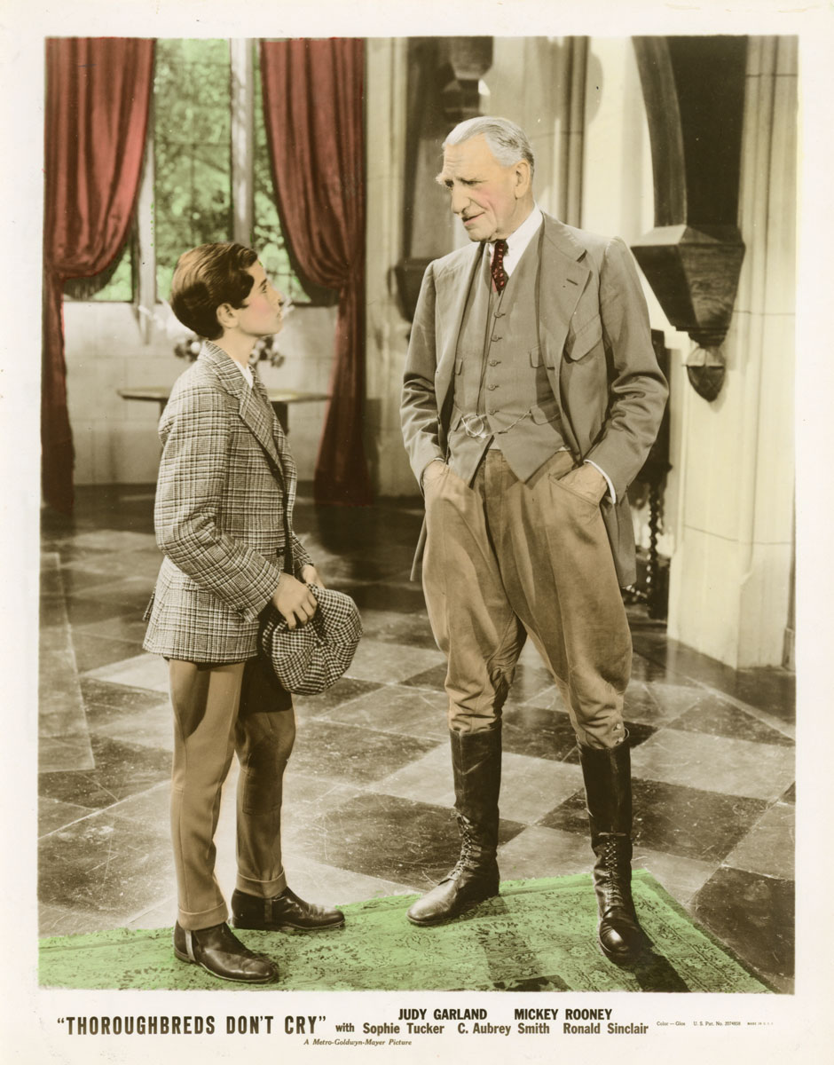 Ronald Sinclair and C. Aubrey Smith in Thoroughbreds Don't Cry (1937)