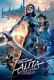 Jennifer Connelly, Christoph Waltz, Mahershala Ali, Eiza González, Rosa Salazar, Ed Skrein, and Keean Johnson in Alita: Battle Angel (2019)