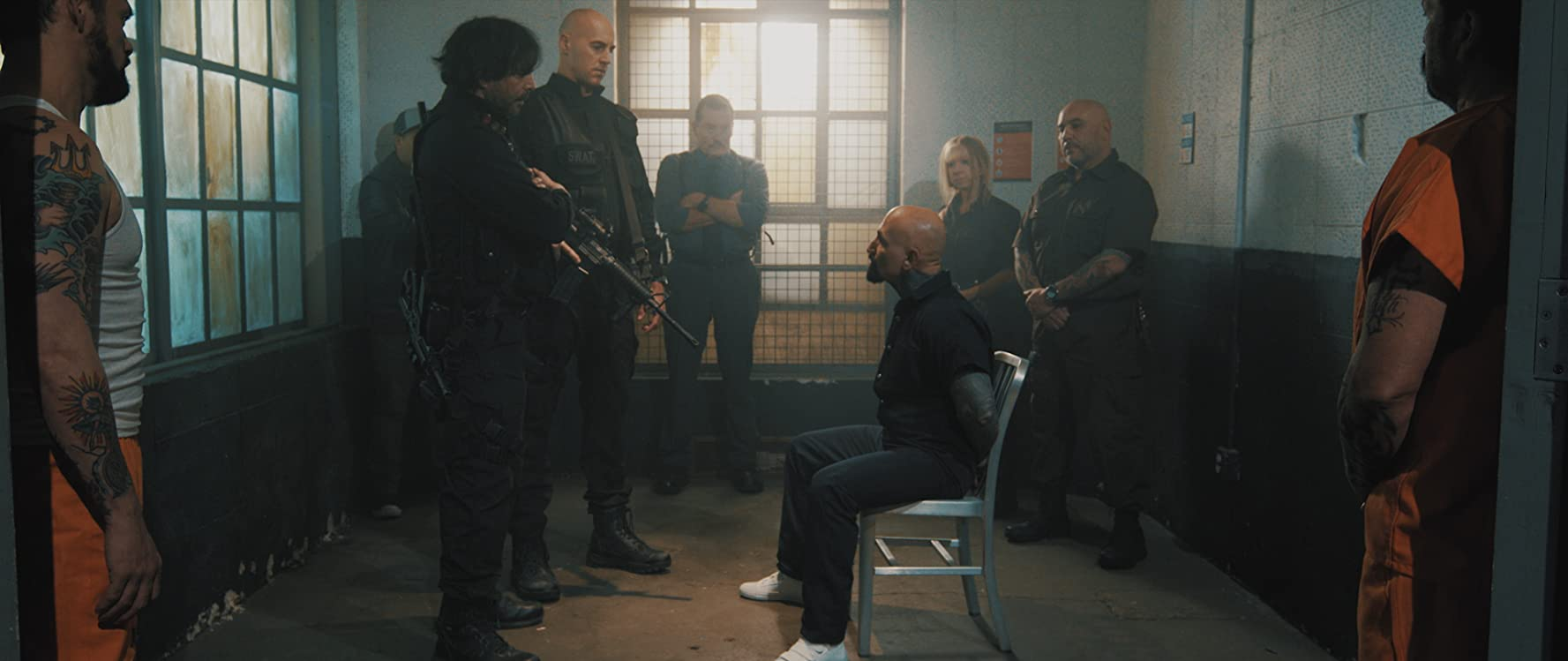Richard Grieco, Robert Donavan, Robert LaSardo, Michael Su, Rich R. Rendon, Douglas Tait, Brandon Slagle, Michael Mahal, Sonny Mahal, Elizabeth Noelle Japhet, Johnny Huang, and Ronnie Nanos in Attack of the Unknown (2020)