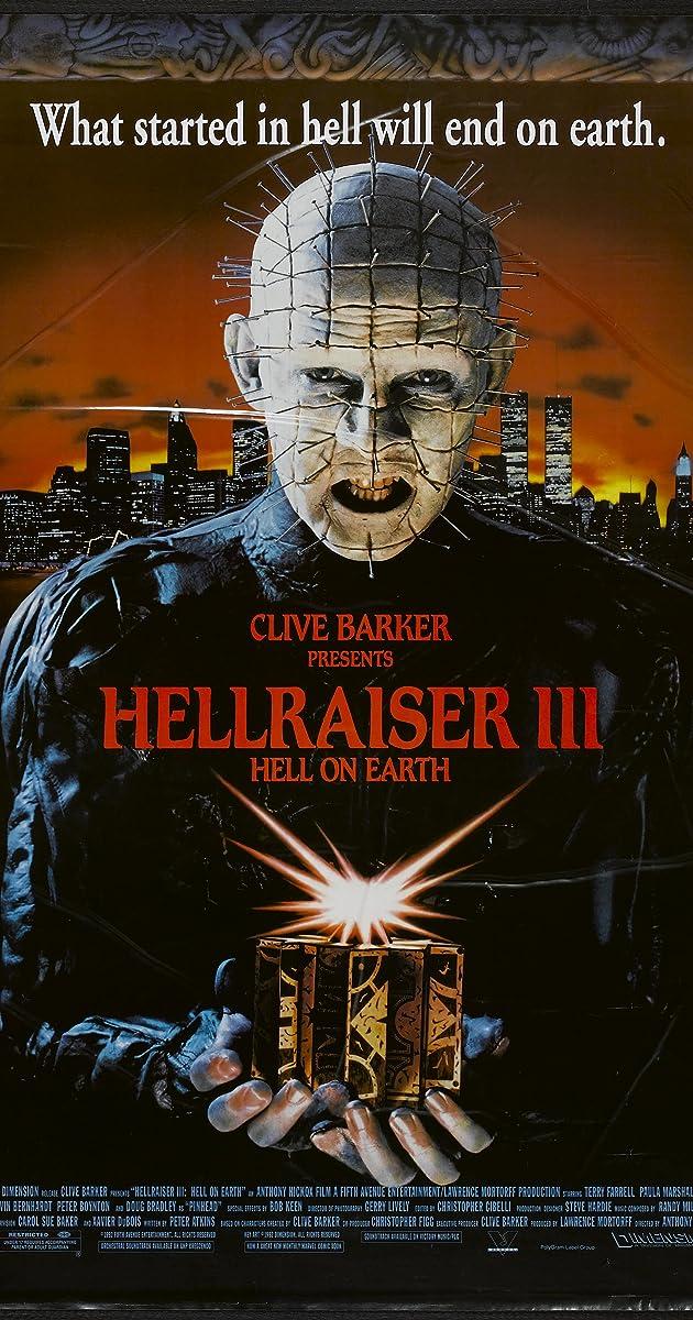 Subtitle of Hellraiser III: Hell on Earth
