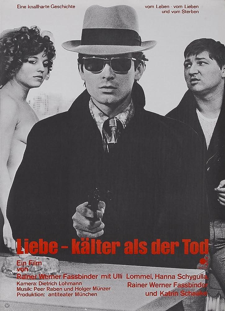Rainer Werner Fassbinder, Ulli Lommel, and Hanna Schygulla in Liebe ist kälter als der Tod (1969)