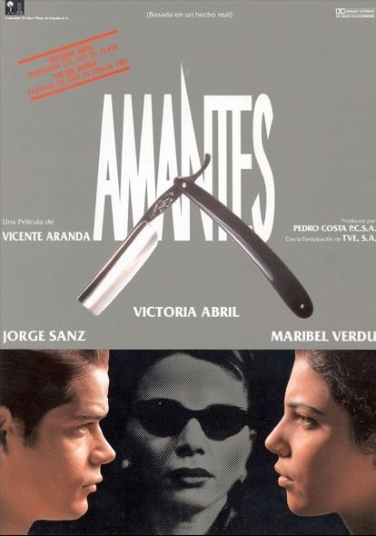 Victoria Abril, Jorge Sanz, and Maribel Verdú in Amantes (1991)