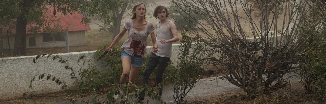 Kyle Gallner and Kerry Bishé in Red State (2011)