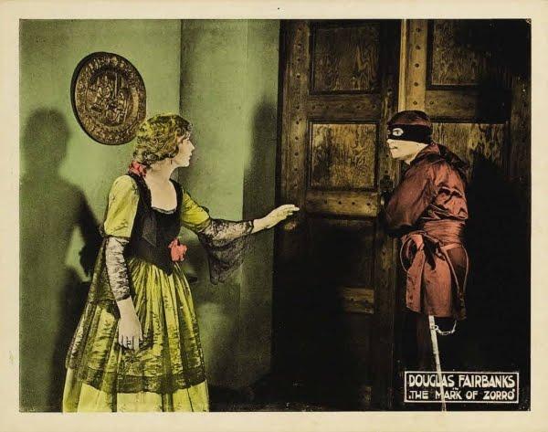 Douglas Fairbanks and Marguerite De La Motte in The Mark of Zorro (1920)