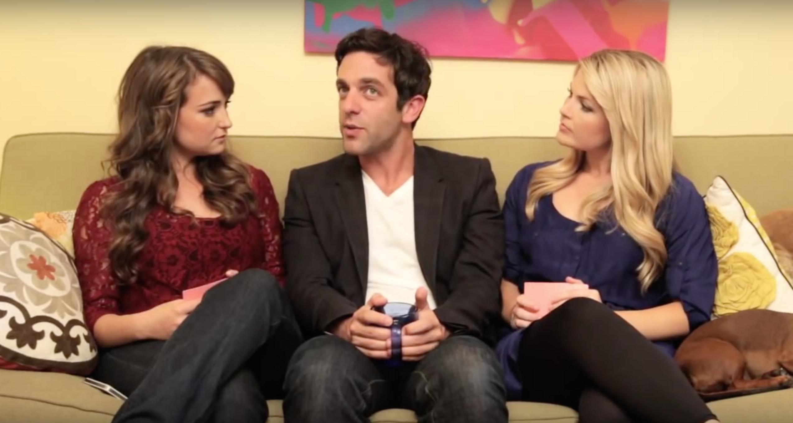 B.J. Novak, Milana Vayntrub, and Stevie Nelson in Let's Talk About Something More Interesting (2011)