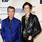 Pierce Brosnan and Dylan Brosnan at an event for Son (2021)