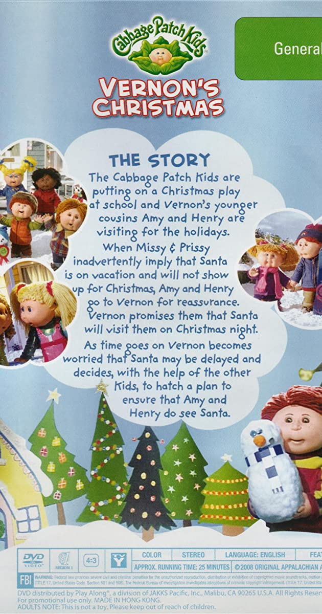 The Christmas Note Cast.Cabbage Patch Kids Vernon S Christmas Tv Movie 1999
