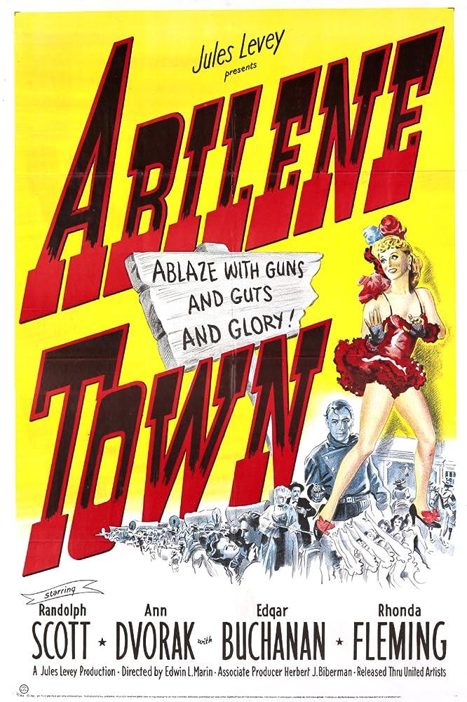 Randolph Scott and Ann Dvorak in Abilene Town (1946)