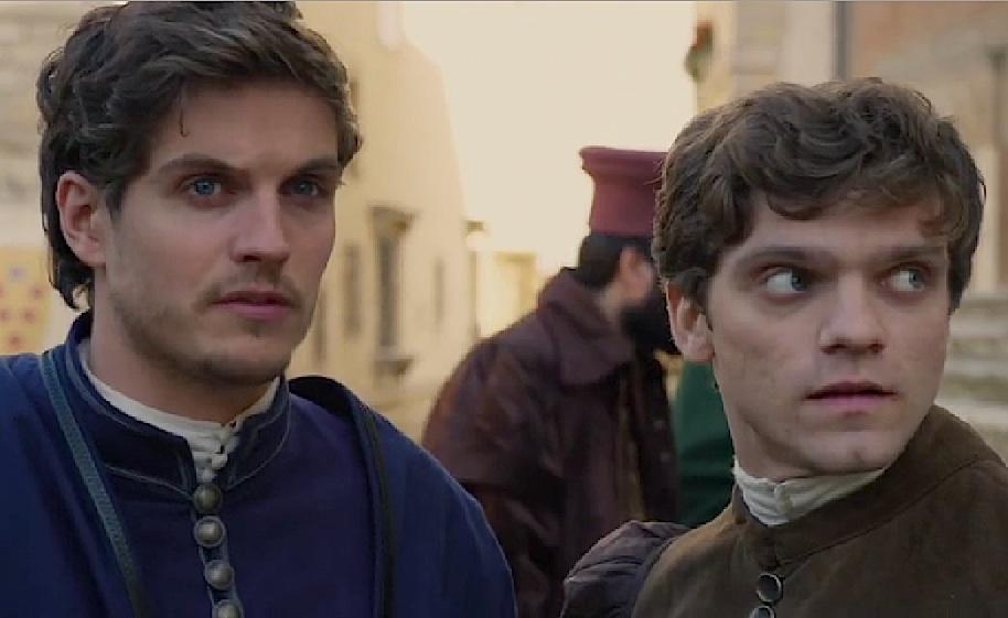 Daniel Sharman and Jacopo Olmo Antinori in Medici (2016)