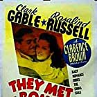 Clark Gable and Rosalind Russell in They Met in Bombay (1941)